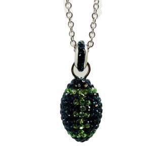 Chelsea Taylor Football Necklace in Seattle Seahawks Colors