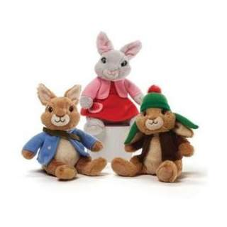 Peter Rabbit, Lily Bobtail and Benjamin Rabbit Beanbag Set