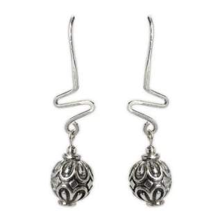Balls with ZigZag Hypoallergenic Dangle Earrings