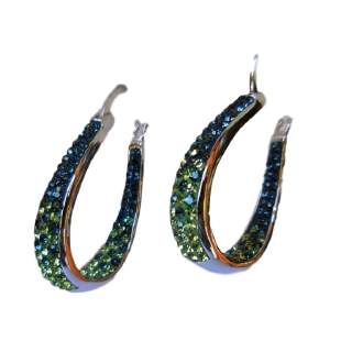Chelsea Taylor Hoop Earrings in Seattle Seahawks Colors