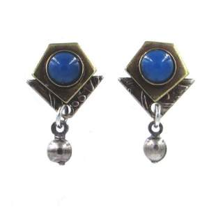 Petite Mixed Metals with onyx Stud Earrings