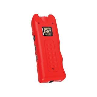 MultiGuard Stun Gun, Alarm, and Flashlight with Built in Charger Red