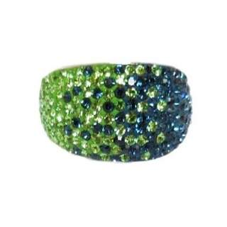 Chelsea Taylor Ring Seattle Seahawks Colors- Size 8