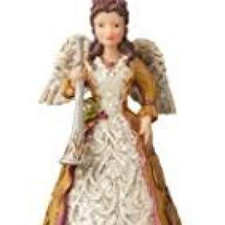Enesco Jim Shore 6004186 Victorian Angel with Horn Hanging Ornament,Resin, 4.5inches