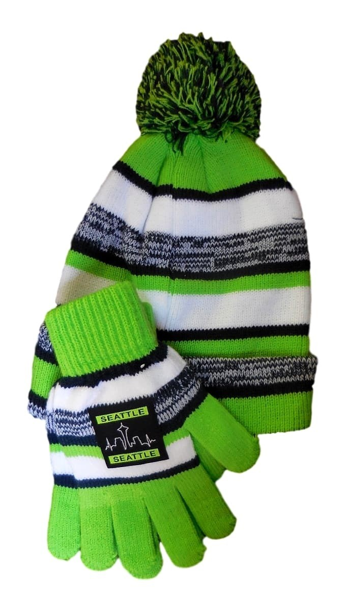 e5be9f3e680548 Seattle Colors Hat and Glove Set | Seattle Seahawks | Hats Scarves and  Gloves | Clothing and Accessories | Frannis Online Store