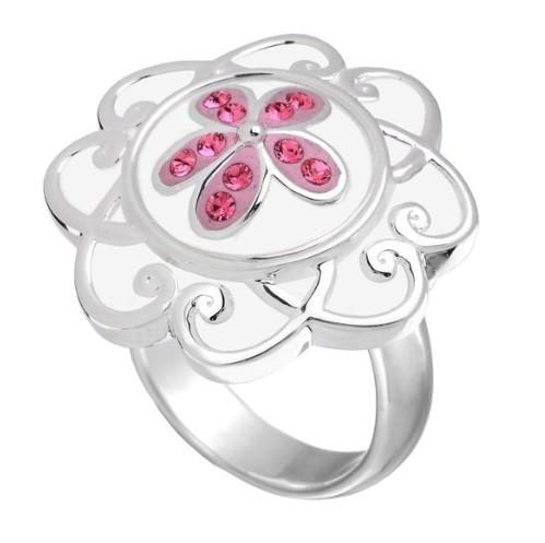 White flower ring size 7 kameleon jewelry frannis online store white flower ring size 7 mightylinksfo